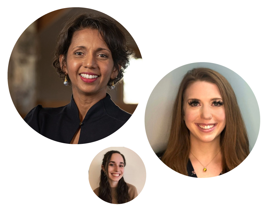 dr. saxena, nicole zeiner, and alyson zimmerman—forum detox team